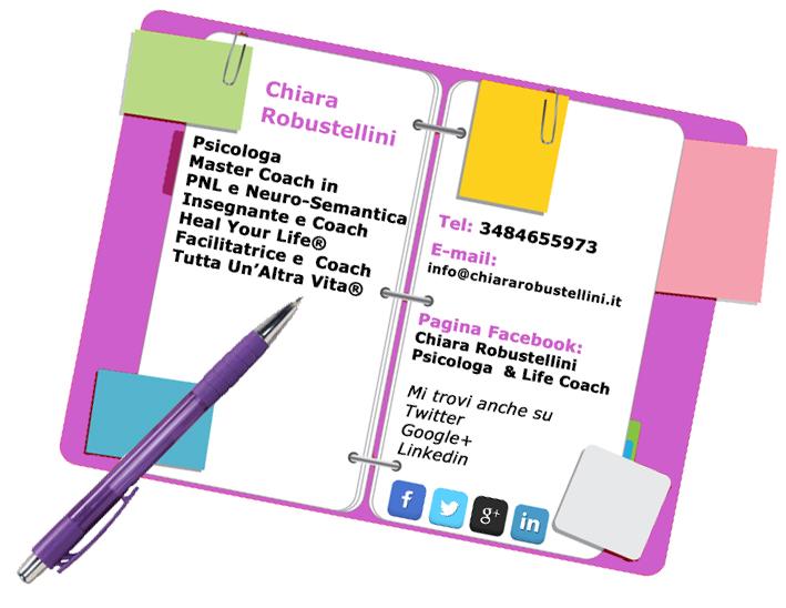 agenda contatti Chiara Robustellini
